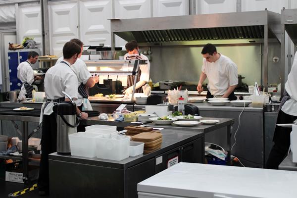 Temporary event kitchen 2