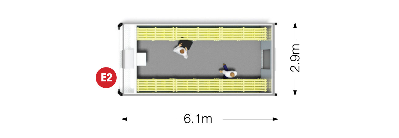 Portable Coldroom 6.1m plan