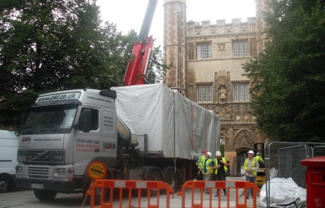 Large temporary kitchen at trinity college