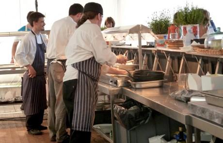Pop up restaurant kitchens at harvest festival