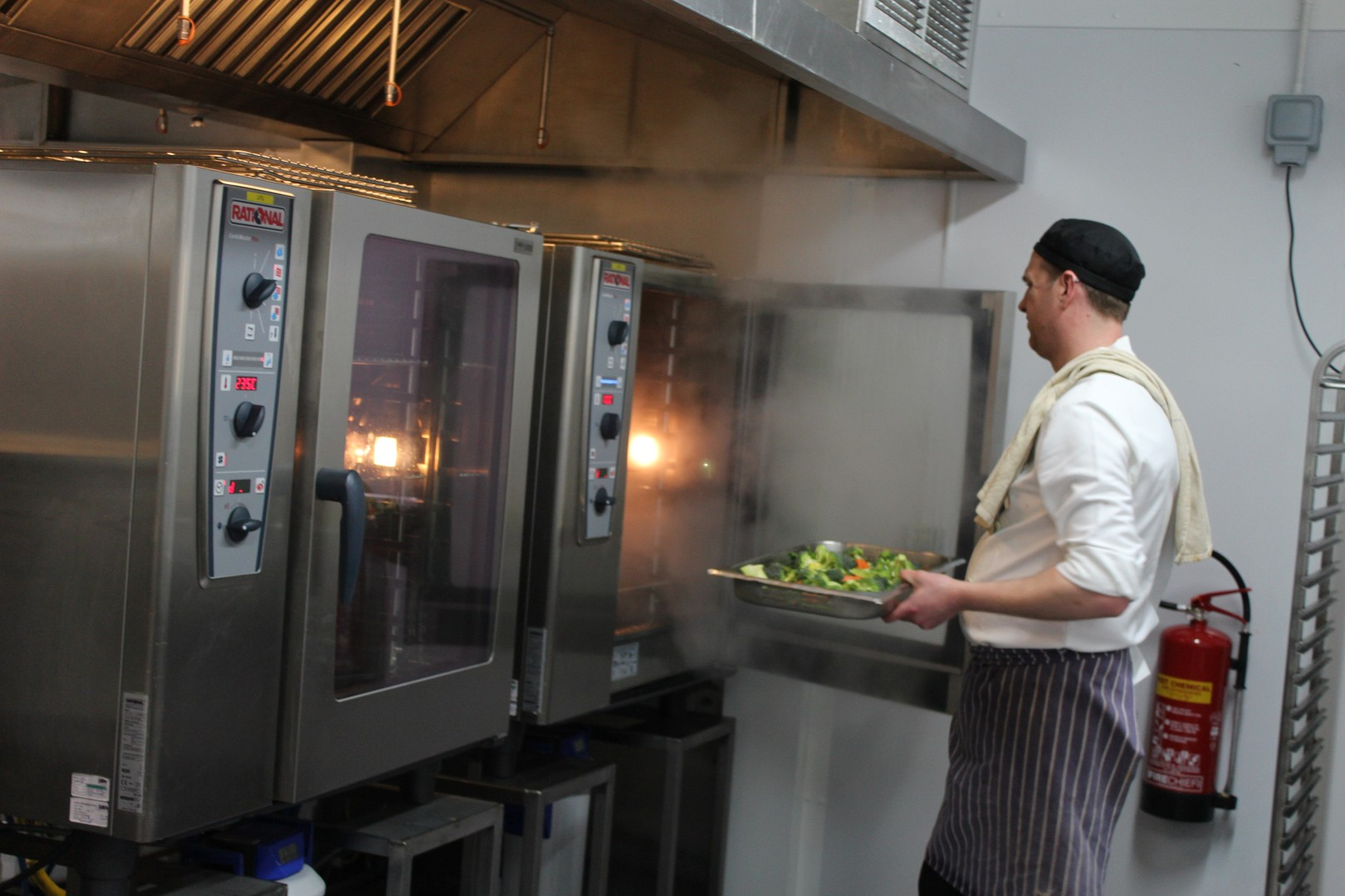 Temporary Kitchen at New College Oxford