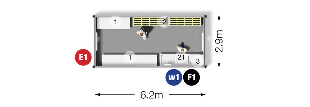 Temporary Pot Wash Unit 6.2m
