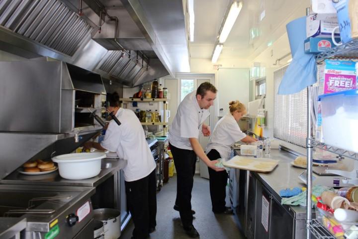 Temporary Kitchen at Tennants