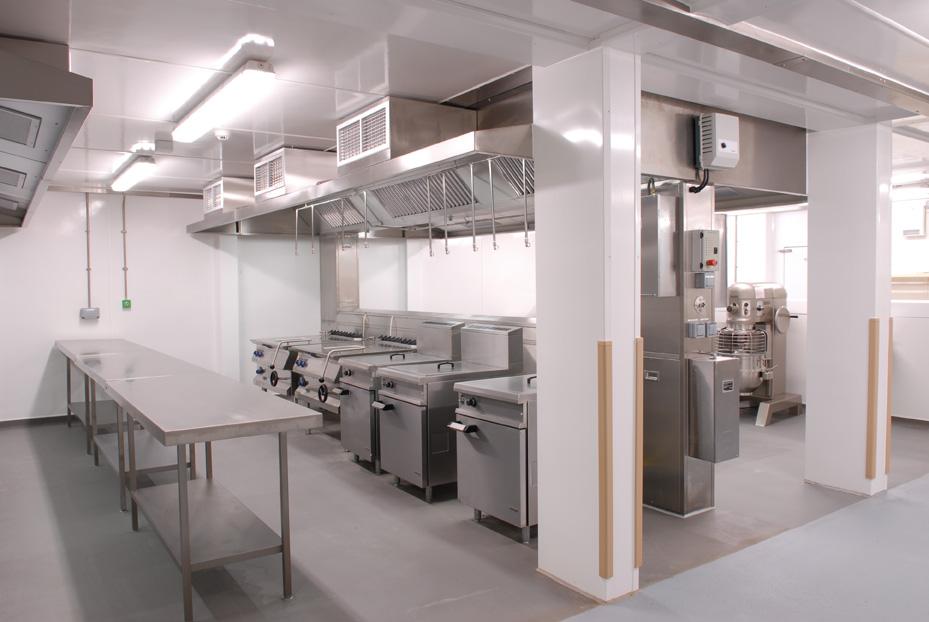 HMP Wayland Large Scale Modular Kitchen