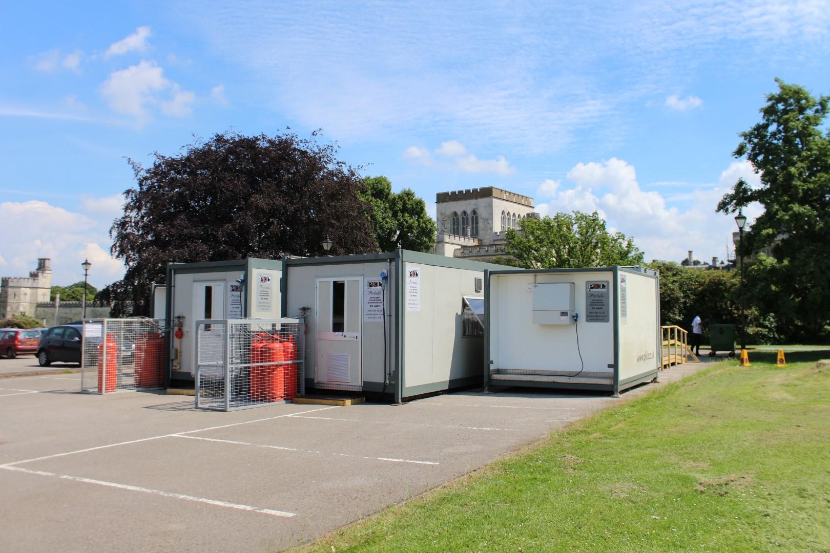 Temporary kitchen at Ashridge Management Centre