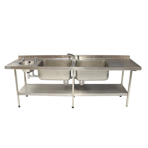 Double Bowl Sink 2400mm for hire.