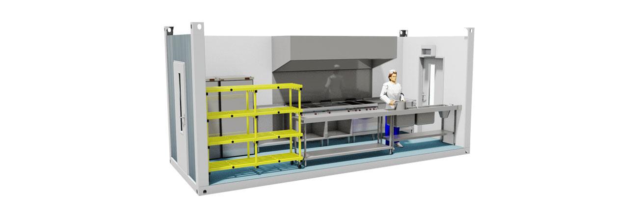 TW 100 Modular Kitchen Facility