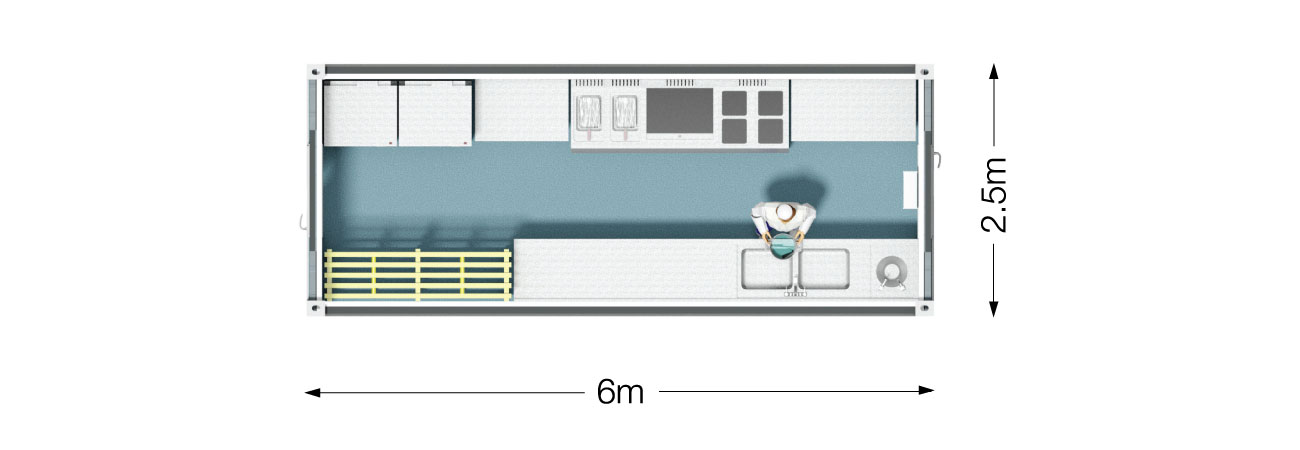 TW 100 Modular Kitchen Plan