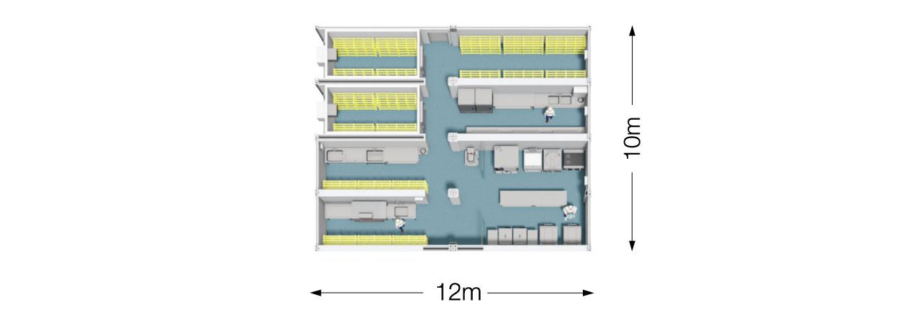 TW 600 Modular Kitchen plan