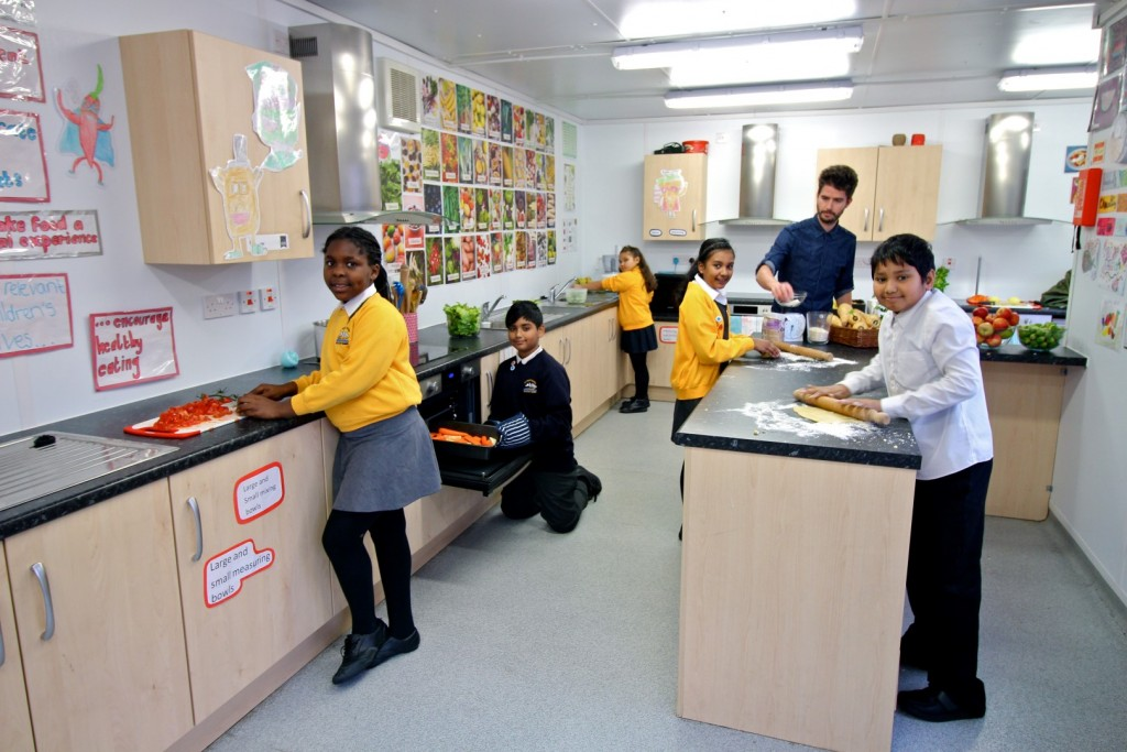 PKL Teaching Kitchen at St Paul's Whitechapel for Jamie's Kitchen Garden Project