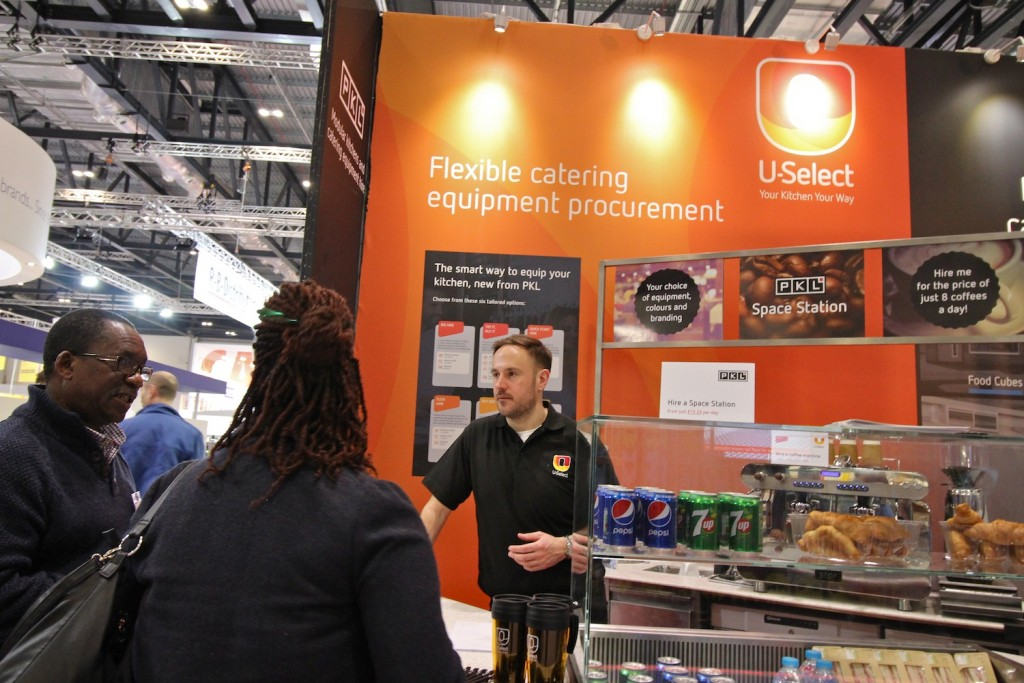 U-Select stand at Hotelympia