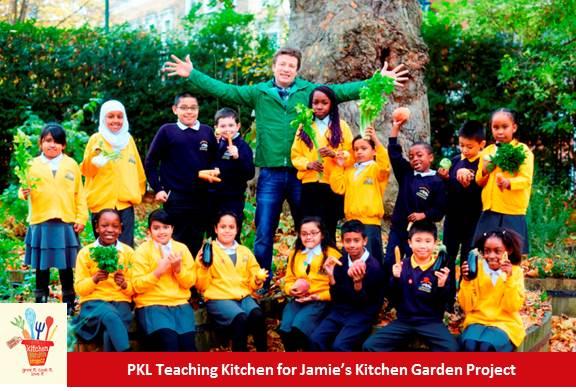 PKL Teaching Kitchen at St Paul's Whitechapel for Jamie's Kitchen Garden Project