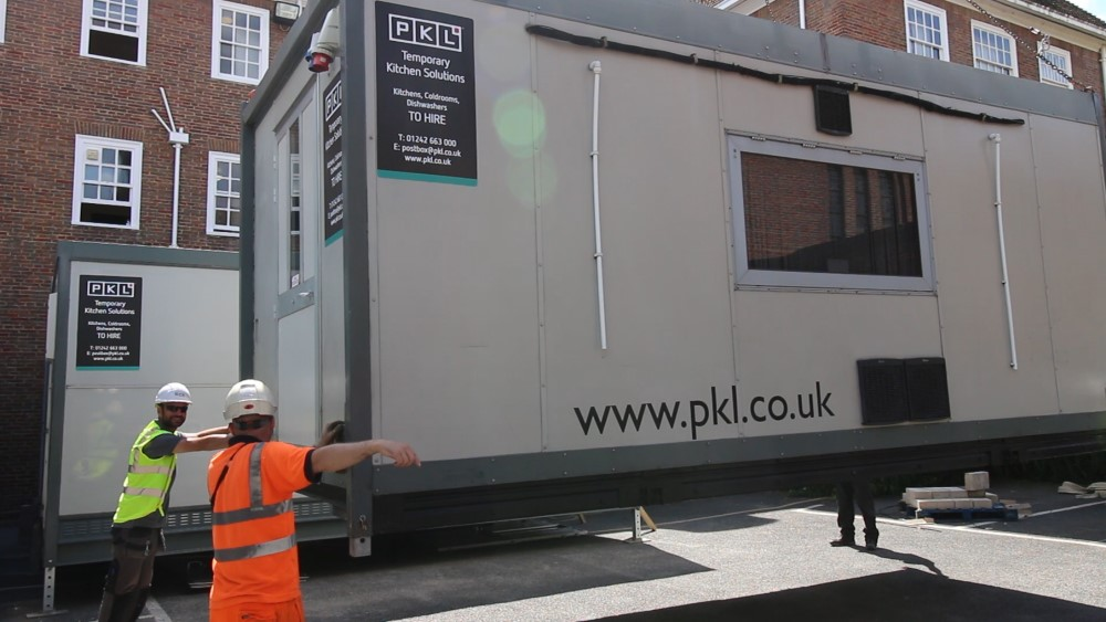 Large scale temporary kitchen at Lincoln's Inn