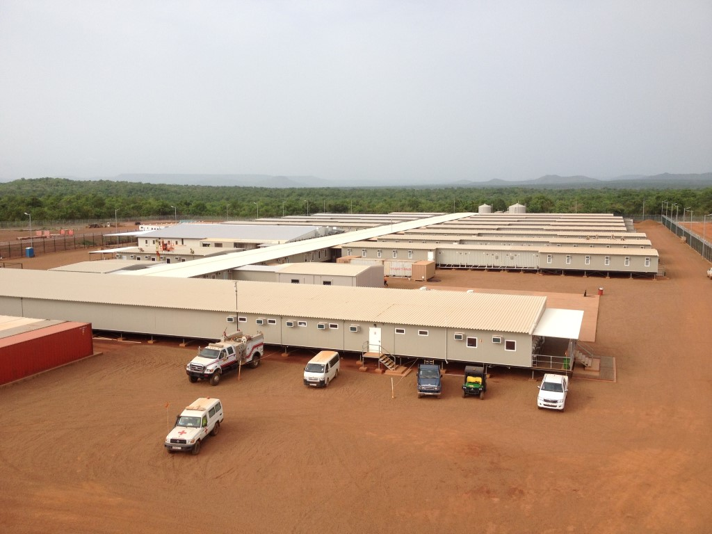 Mali mining camp and kitchen completed external view