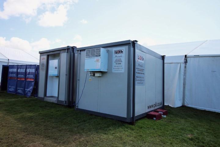 Temporary Coldrooms at Peake Camp