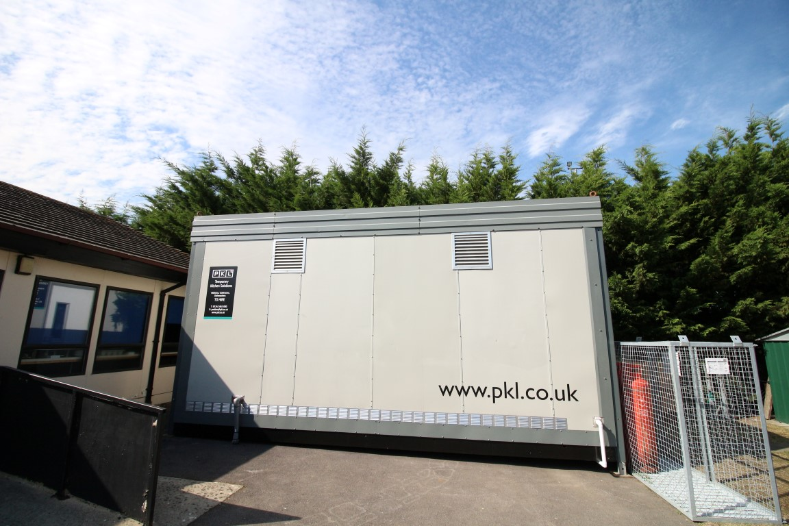 Temporary kitchen at Oxford United F.C.