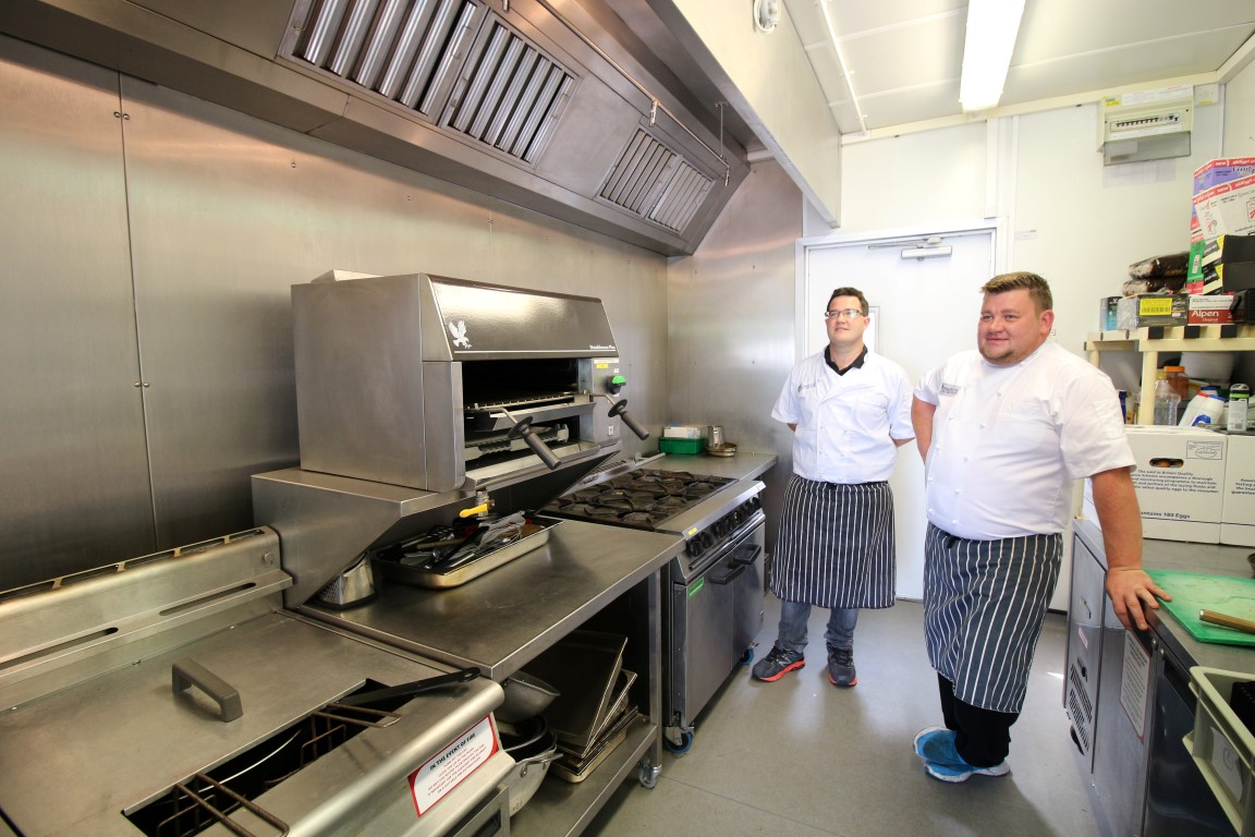 The chefs at OUFC are happy with the PKL temporary kitchen