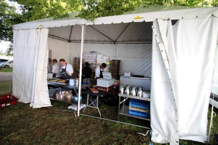 Temporary Kitchen at Countryfile Live