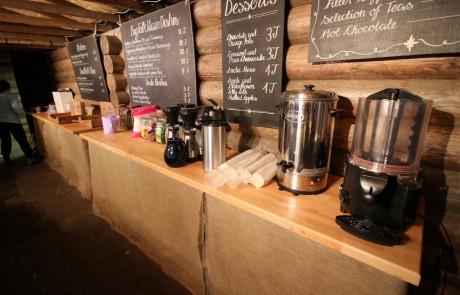 Temporary beverage equipment at Lapland UK