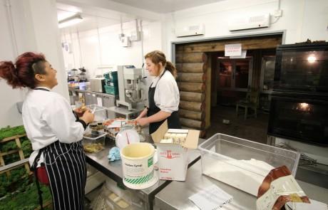 PKL temporary kitchen at Lapland UK