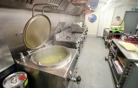 Temporary kitchen at Lapland UK