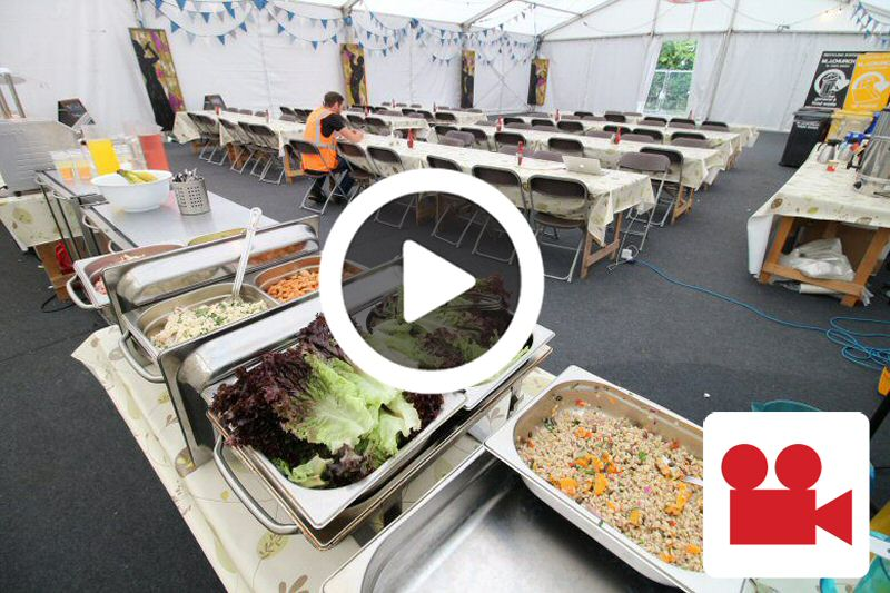 Womad temporary kitchen for staff catering
