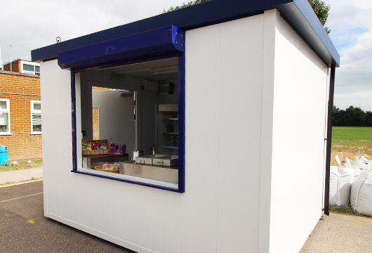 Food Cube Kiosk with Painted Exterior Finish