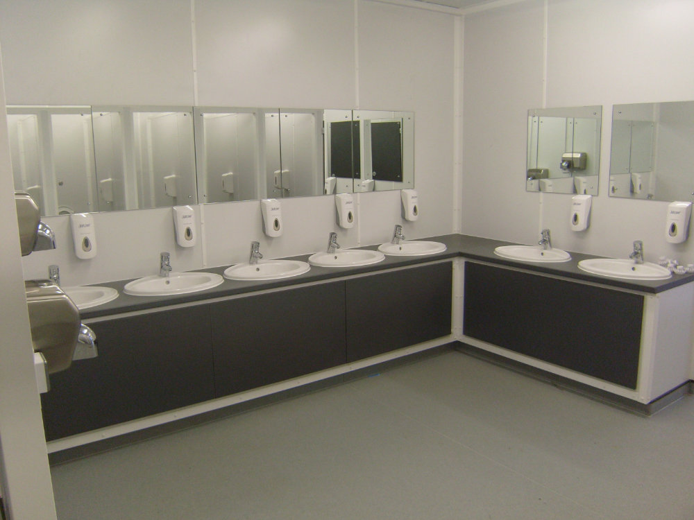 Temporary WC facility